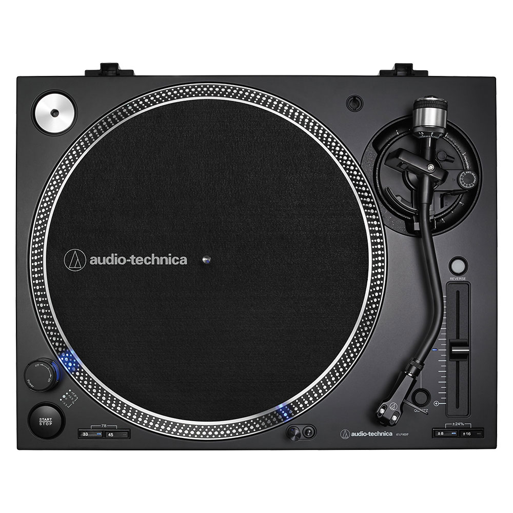 Audio-Technica AT-LP140XPBK Turntable - Top