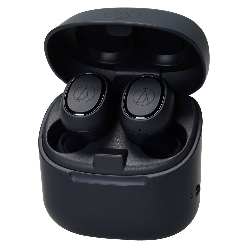 Audio-Technica ATH-CK3TW Black Headphones - Case