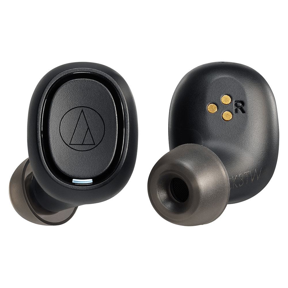 Audio-Technica ATH-CK3TW Black Headphones - Front