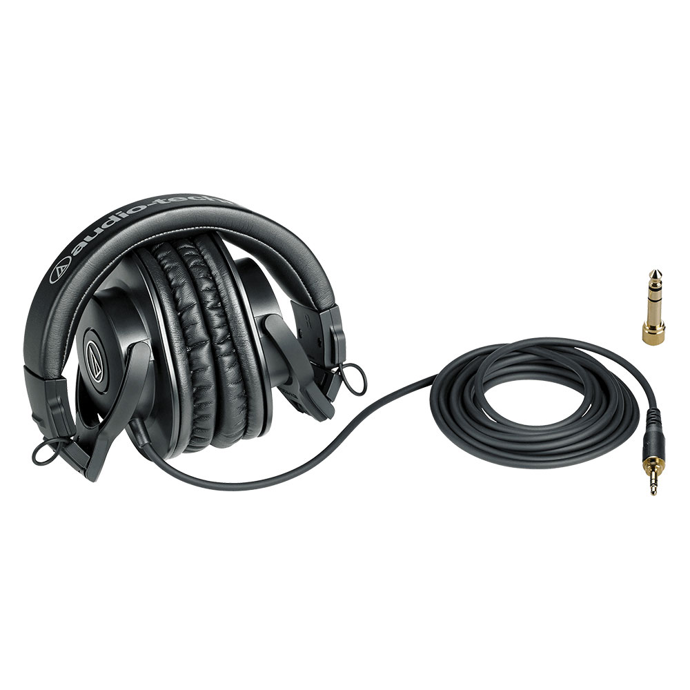 Audio-Technica ATH-M30x Headphones - Product Folded with Cable