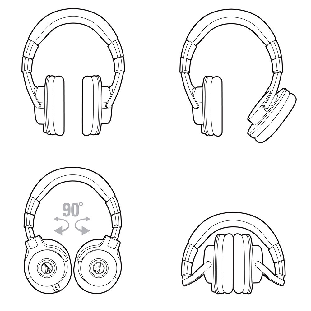 Audio-Technica ATH-M50x Headphones - Product Capabilities
