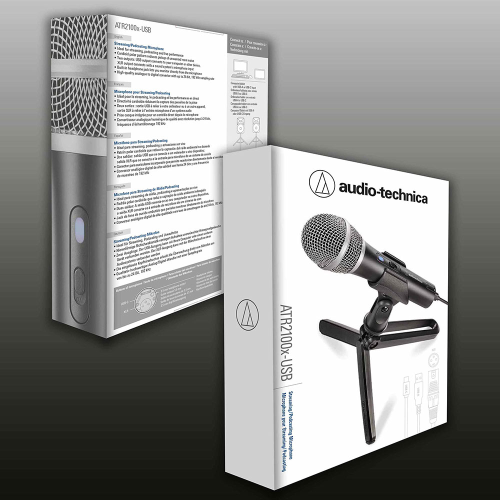 Audio-Technica ATR2100x-USB Microphone - Packaging