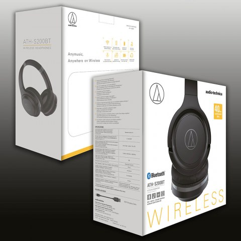Audio-Technica ATH-S200BT Black Headphones - Packaging