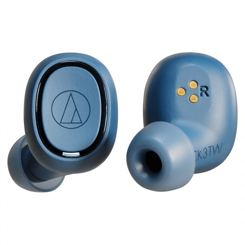 Audio-Technica ATH-CK3TW Blue Headphones - Front