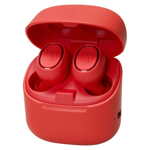 Audio-Technica ATH-CK3TW Red Headphones - Case