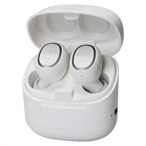 Audio-Technica ATH-CK3TW White Headphones - Case