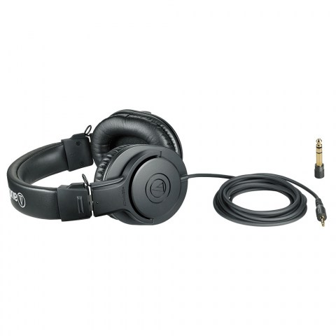 Audio-Technica ATH-M20x Headphones - Product Lying with Cable