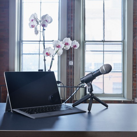 Audio-Technica ATR2100x-USB Microphone - In use