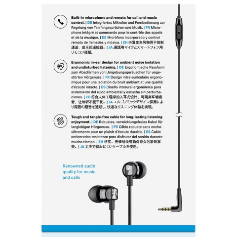 Sennheiser CX 300S Black Earphones - Packaging Back