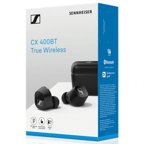 Sennheiser CX 400BT True Wireless Black Earbuds - Packaging Front