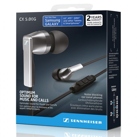 Sennheiser CX 5.00G Black Earphones - Packaging Front