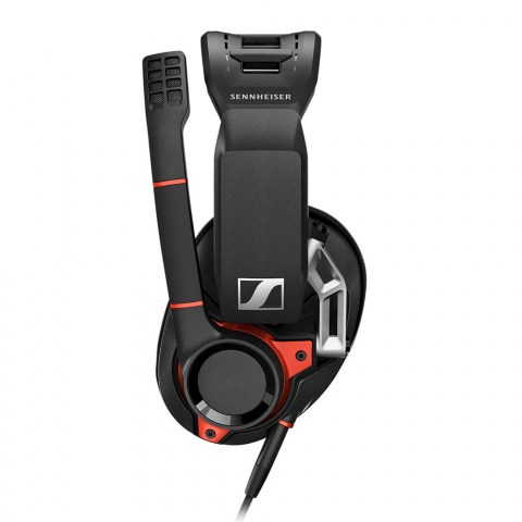 Sennheiser GSP 600 Headset - Left with Boomarm Up