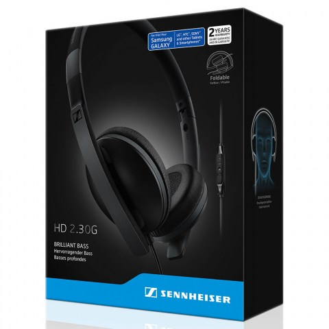 Sennheiser HD 2.30G Black Headset - Packaging Front