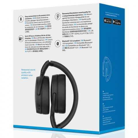 Sennheiser HD 350BT Wireless Black Headphones - Packaging Back