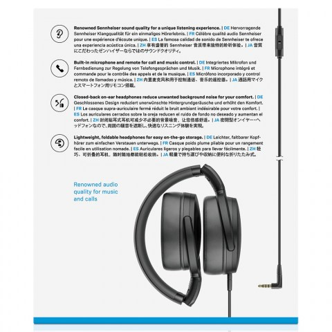 Sennheiser HD 400S Headphones - Packaging Back