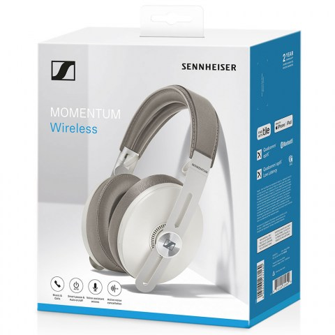 Sennheiser MOMENTUM 3 Wireless White Headphones - Packaging Front