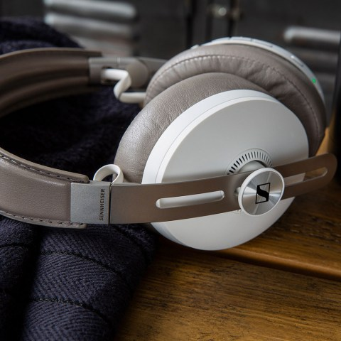 Sennheiser MOMENTUM 3 Wireless White Headphones - Product Application - Close