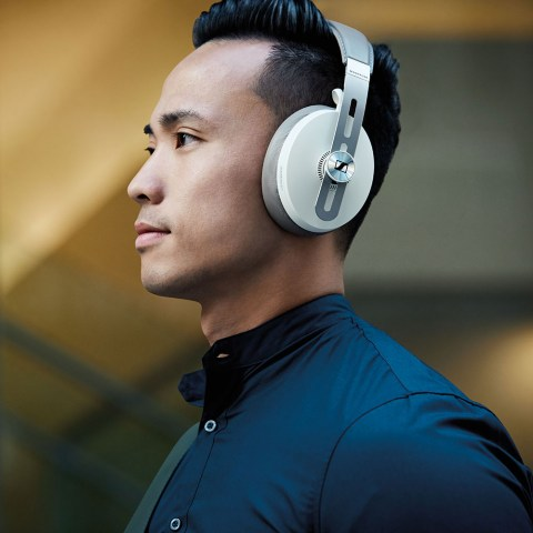 Sennheiser MOMENTUM 3 Wireless White Headphones - Product Application - Man