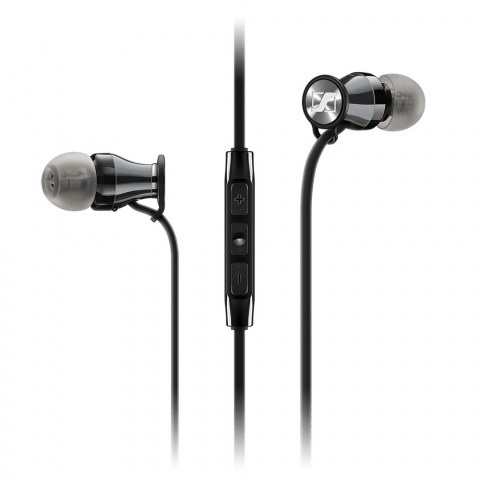 Sennheiser MOMENTUM In-Ear i Black Headphones - Product Front