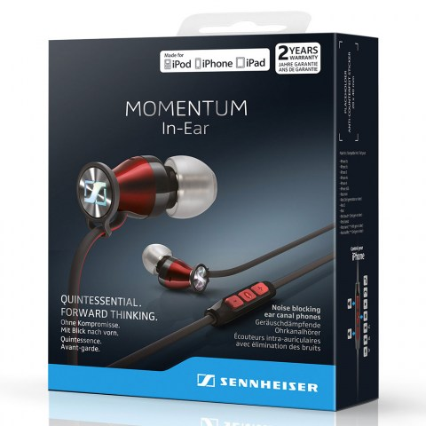 Sennheiser MOMENTUM In-Ear i Red Headphones - Packaging Front