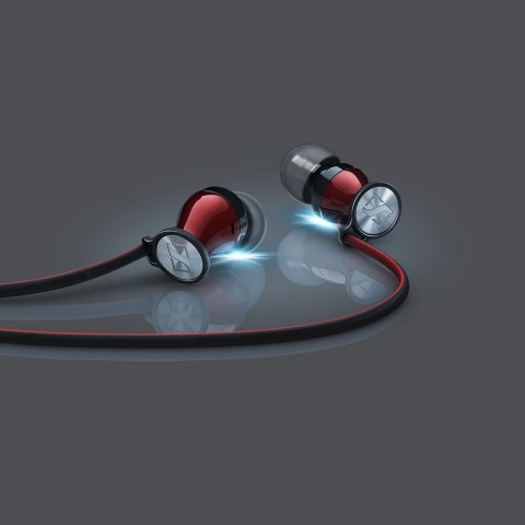 Sennheiser MOMENTUM In-Ear i Red Headphones - Product Bright Shadows