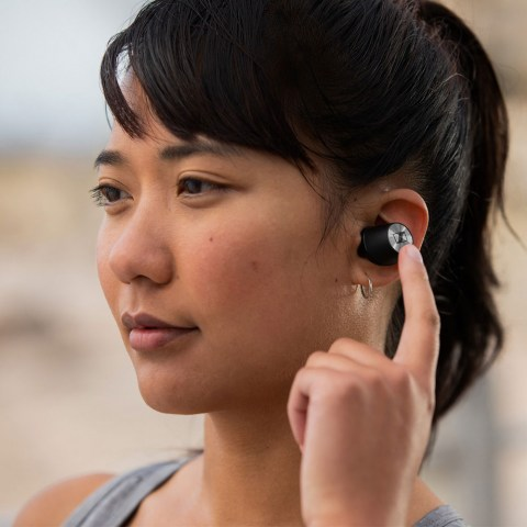 Sennheiser MOMENTUM True Wireless Earbuds - Product Application  - Woman Close