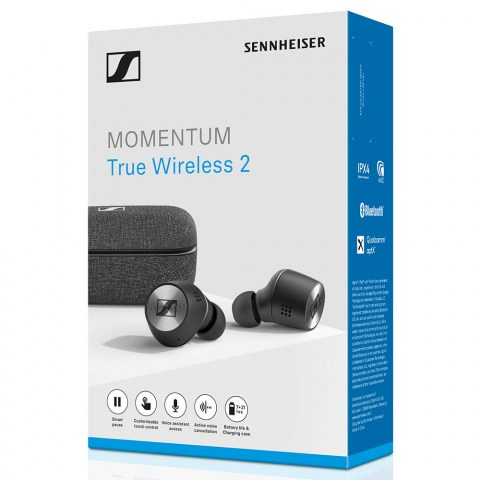 Sennheiser MOMENTUM True Wireless 2 Black Earbuds - Packaging Front