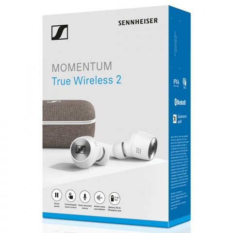 Sennheiser MOMENTUM True Wireless 2 White Earbuds - Packaging Front