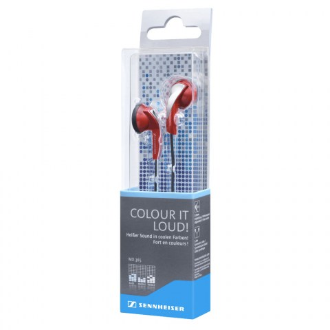 Sennheiser MX 365 Red Earphones - Packaging Side