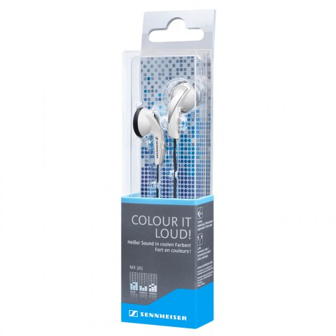 Sennheiser MX 365 White Earphones - Packaging Side