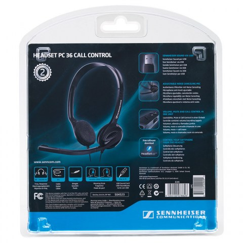 Sennheiser PC 36 Call Control Headset - Packaging Back