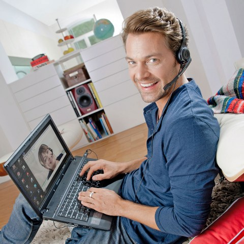 Sennheiser PC 7 USB Headset - Product Application - Man