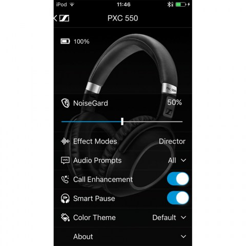 Sennheiser PXC 550 Wireless Headset - Software