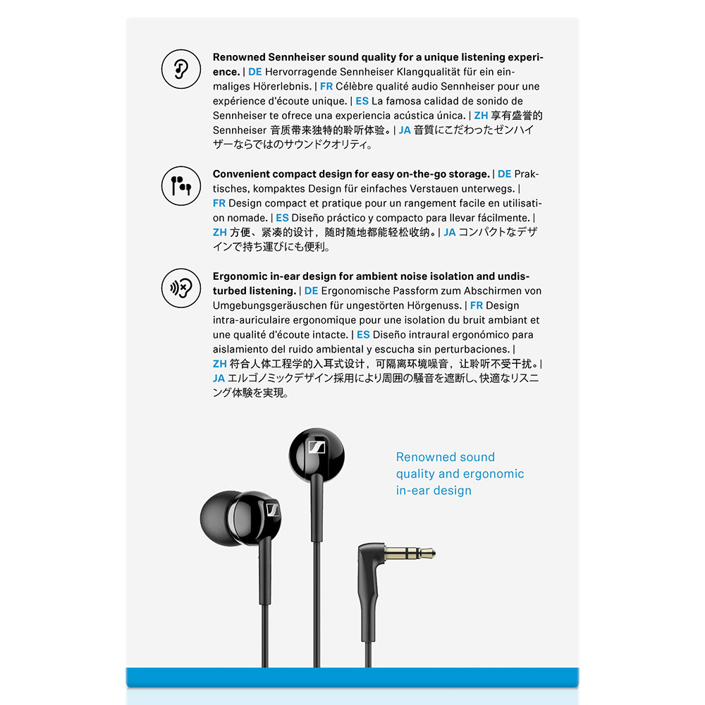 Sennheiser CX 100 Black Earphones - Packaging Back