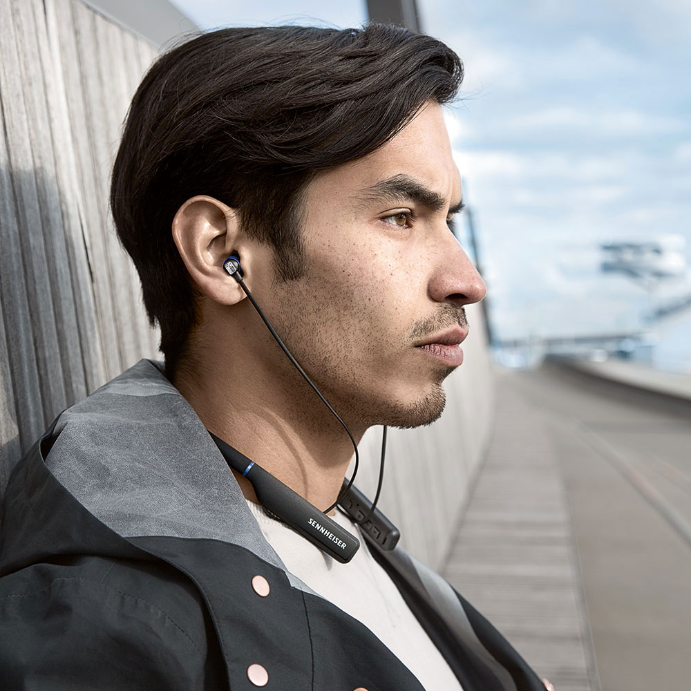 Sennheiser CX 7.00BT In-Ear Wireless Earphones - Product Application - Man