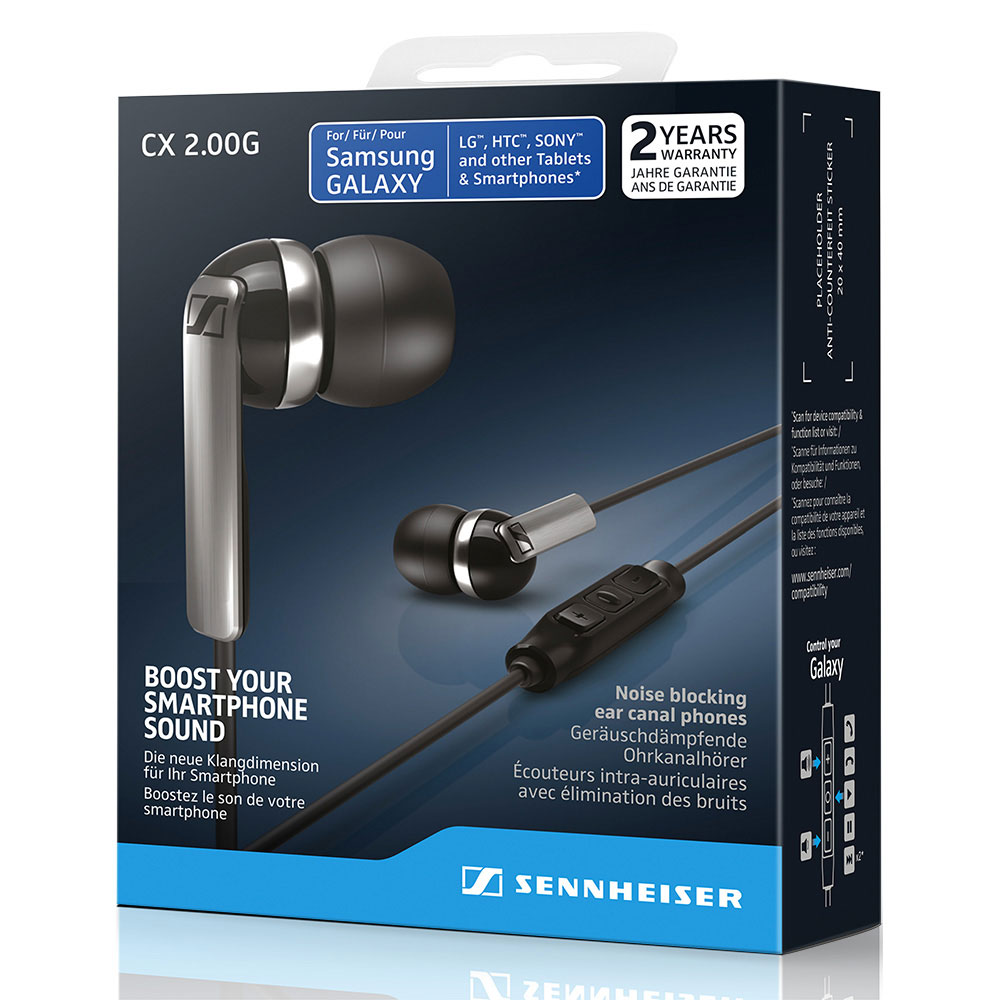 Sennheiser CX 2.00G Black Earphones - Packaging Front