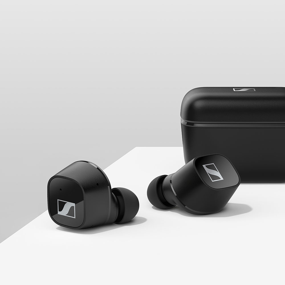 Sennheiser CX 400BT True Wireless Black Earbuds - On the table
