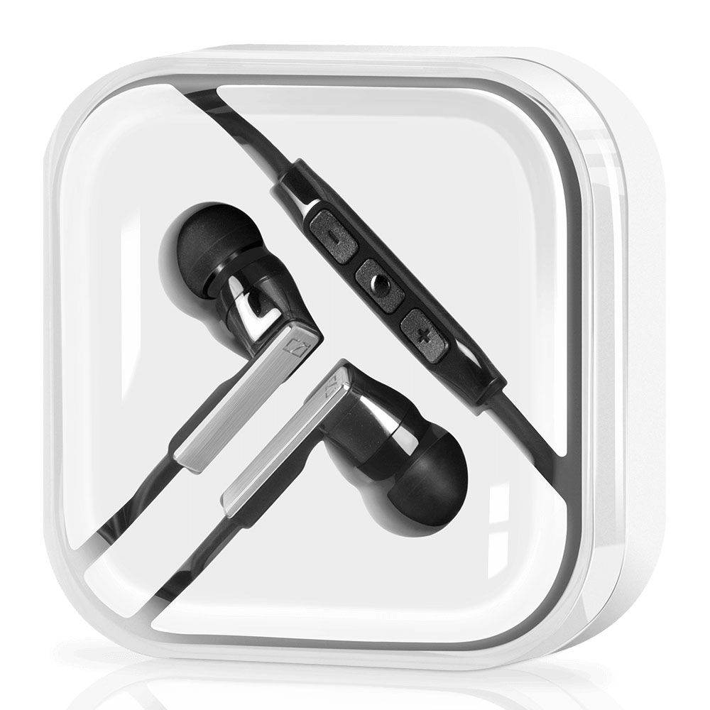 Sennheiser CX 5.00i Black Earphones - Carrying Box