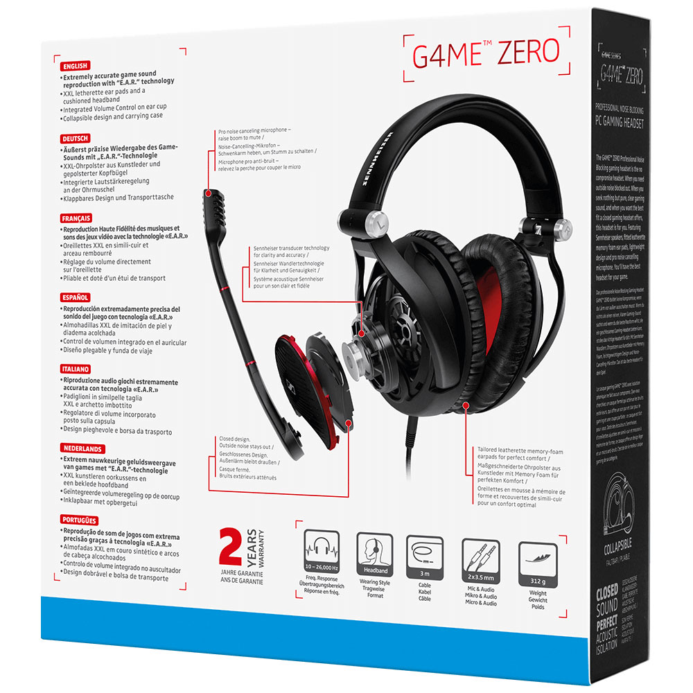 Sennheiser GAME ZERO Black Headset - Packaging Back