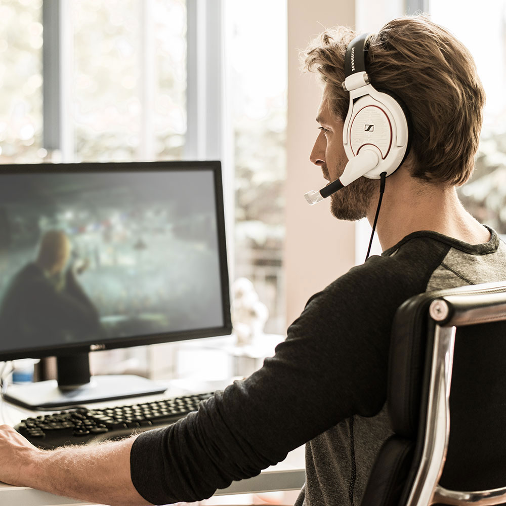 Sennheiser GAME ZERO Black Headset - Product Application - Man Back