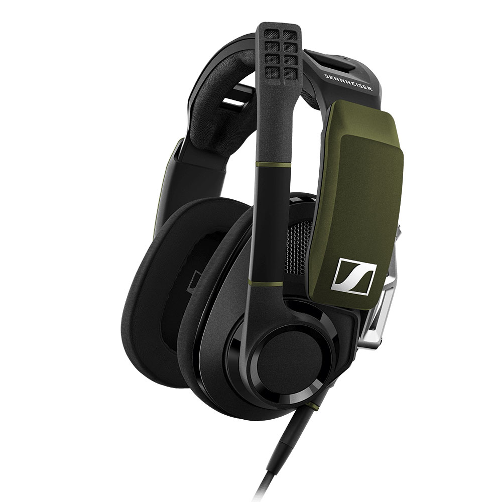 Sennheiser GSP 550 Headset - Side with Boomarm Up