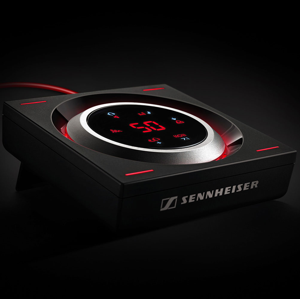 Sennheiser GSX 1000 Audio Amplifier - In a dark room