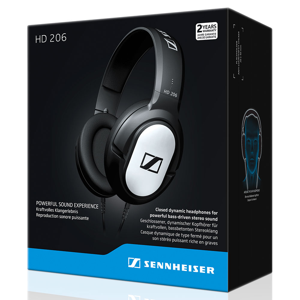 Sennheiser HD 206 Headphones - Packaging front