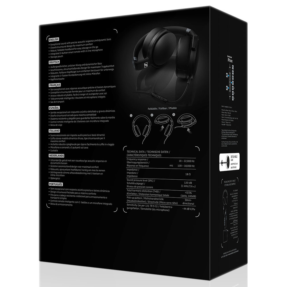 Sennheiser HD 4.30i Black Headset - Packaging Back