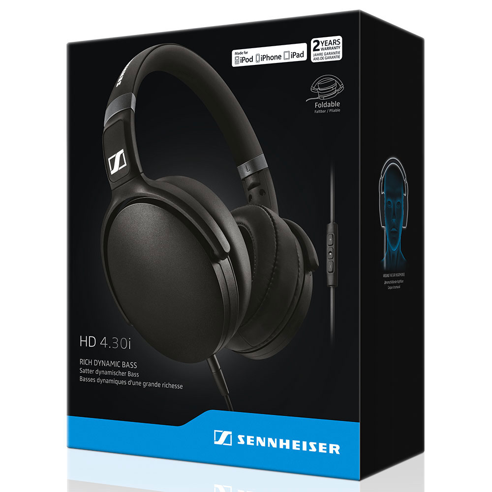 Sennheiser HD 4.30i Black Headset - Packaging Front