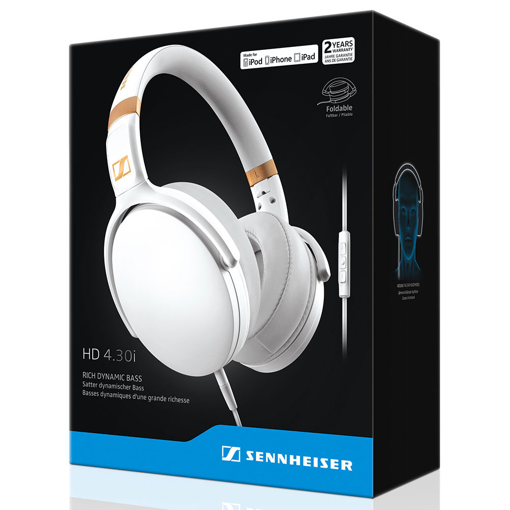 Sennheiser HD 4.30i White Headset - Packaging Front
