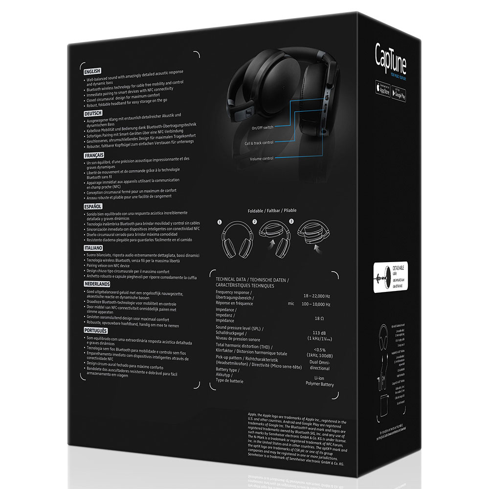Sennheiser HD 4.40 BT Headset - Packaging Back