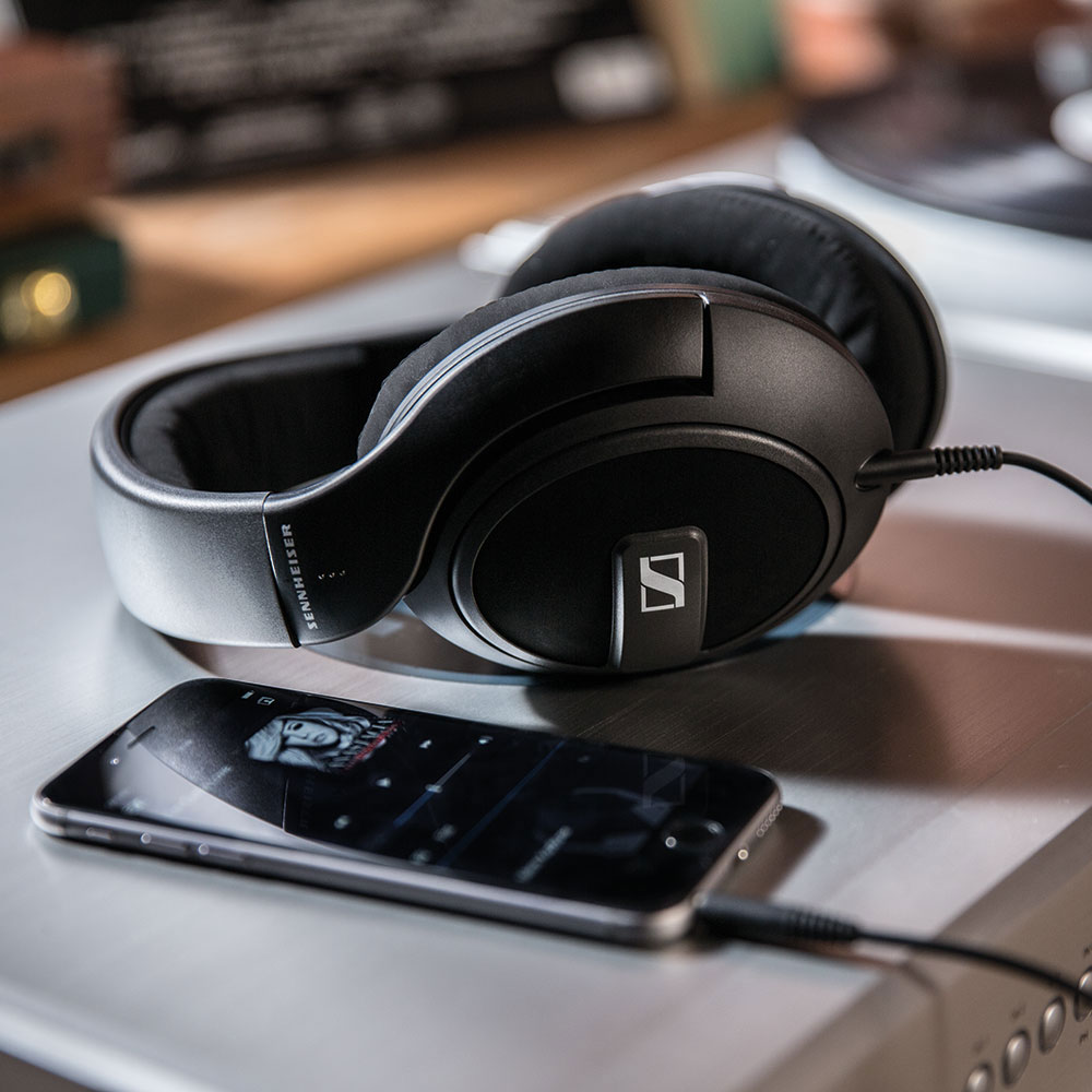 Sennheiser HD 569 Headphones - On The Amplifier