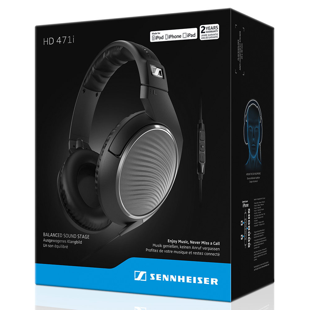 Sennheiser HD 471i Headphones - Packaging Front