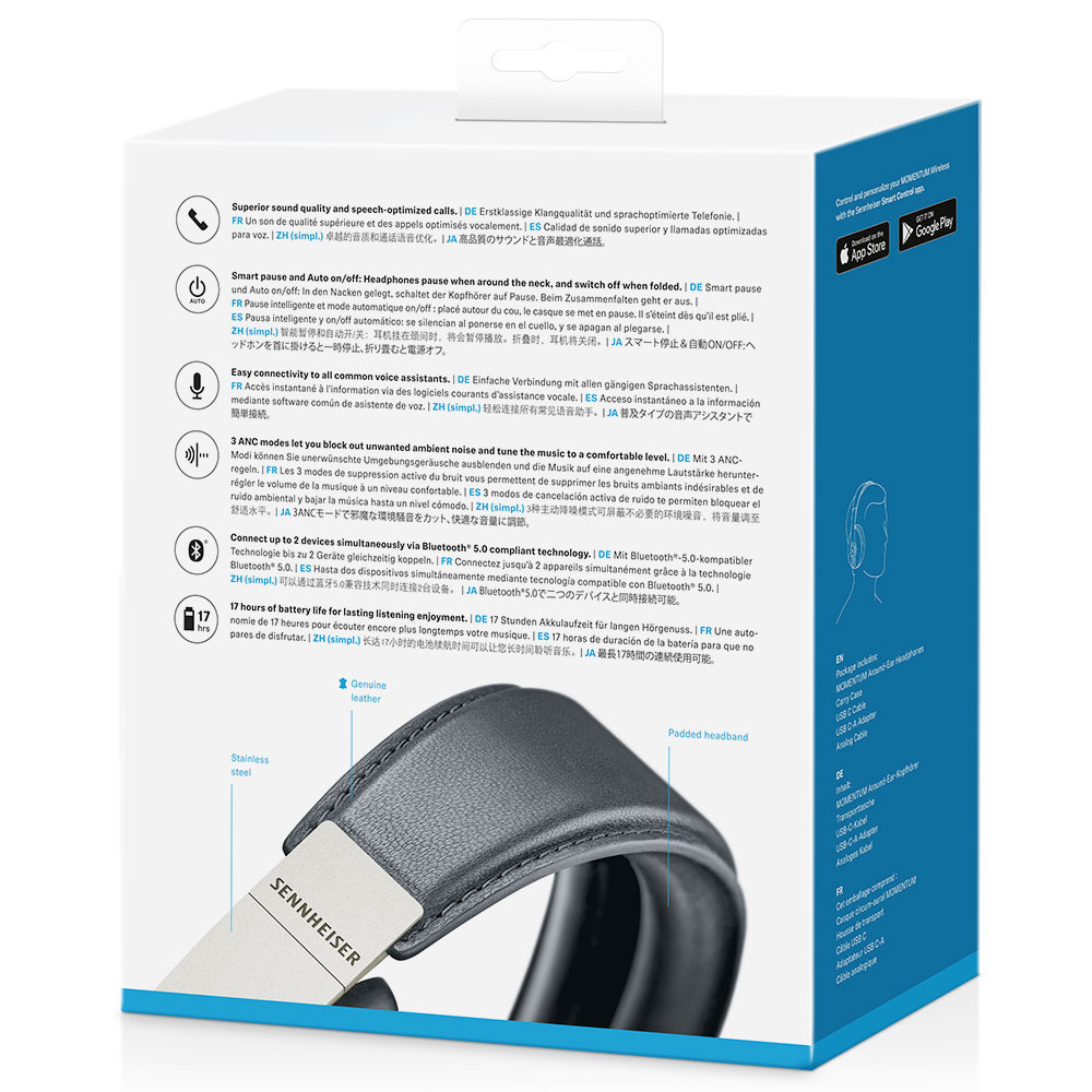 Sennheiser MOMENTUM 3 Wireless Black Headphones - Packaging Back